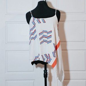 RACHEL ROY White asymmetrical camisole